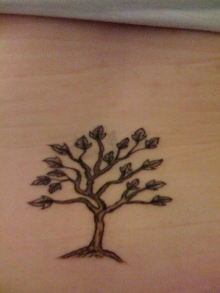 Small Ash Tree Tattoo On Lower Back Ideas And Designs
