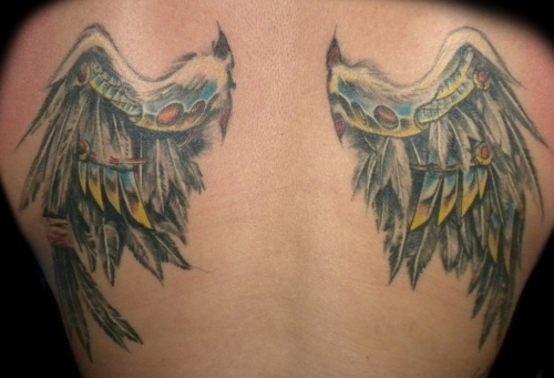 25 Great Angel Wing Tattoos Creativefan Ideas And Designs
