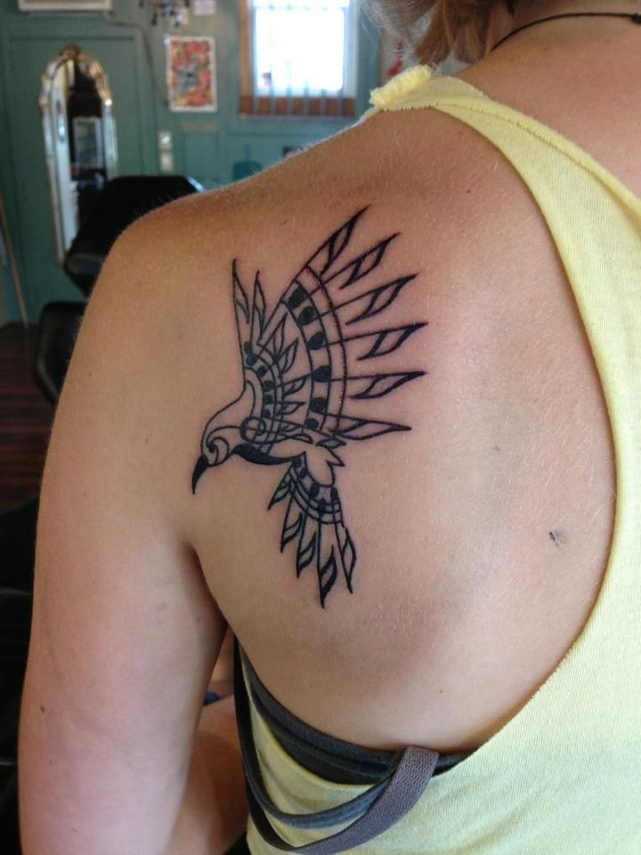 Bird Tattoos On Back Of Shoulder Creativefan Ideas And Designs