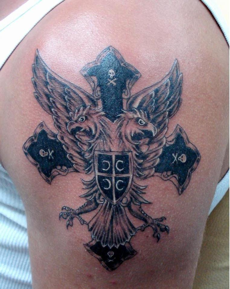 Serbian Orthodox Cross Tattoo