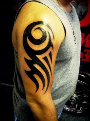 tribal tattoo tattoos arm simple easy designs hand arms dragon biceps piece tato flickr stunning right flash directory