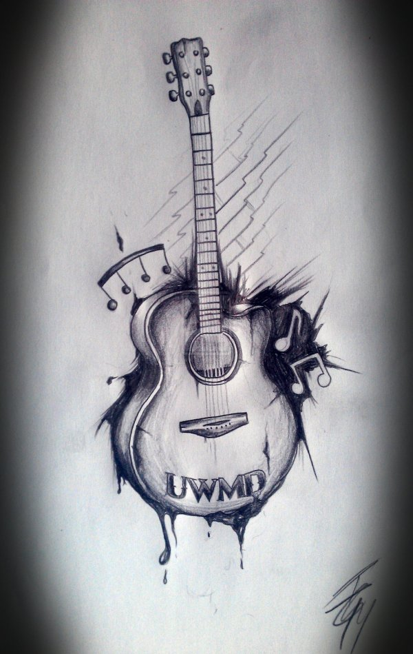 Guitar Tattoo Designs