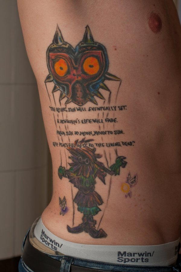 Zelda Majora's Mask Tattoo