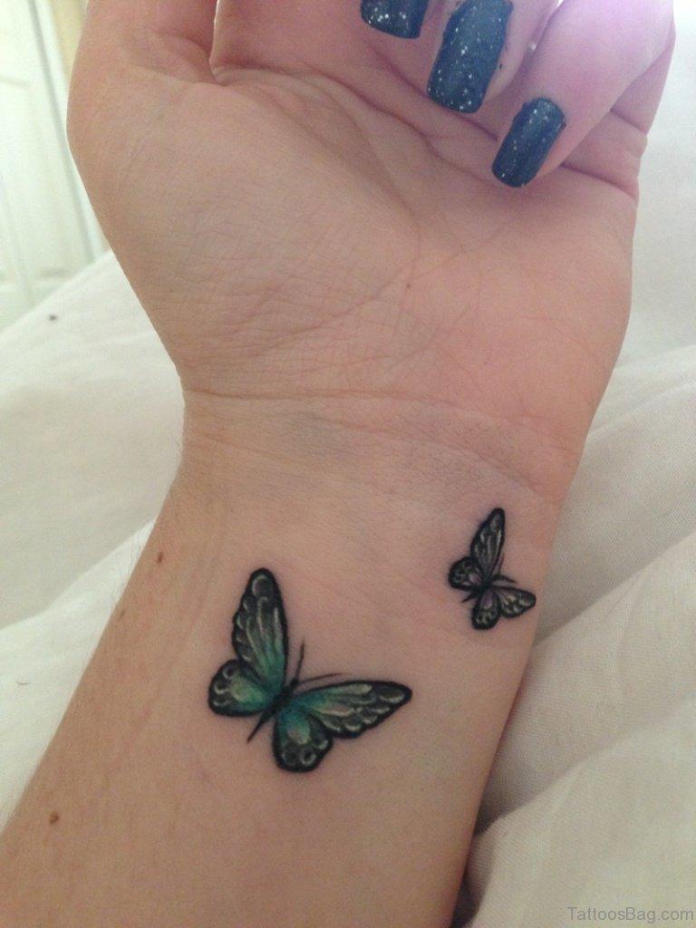 Girly Butterfly Tattoo : girly, butterfly, tattoo, Divine, Butterfly, Wrist, Tattoos, Design