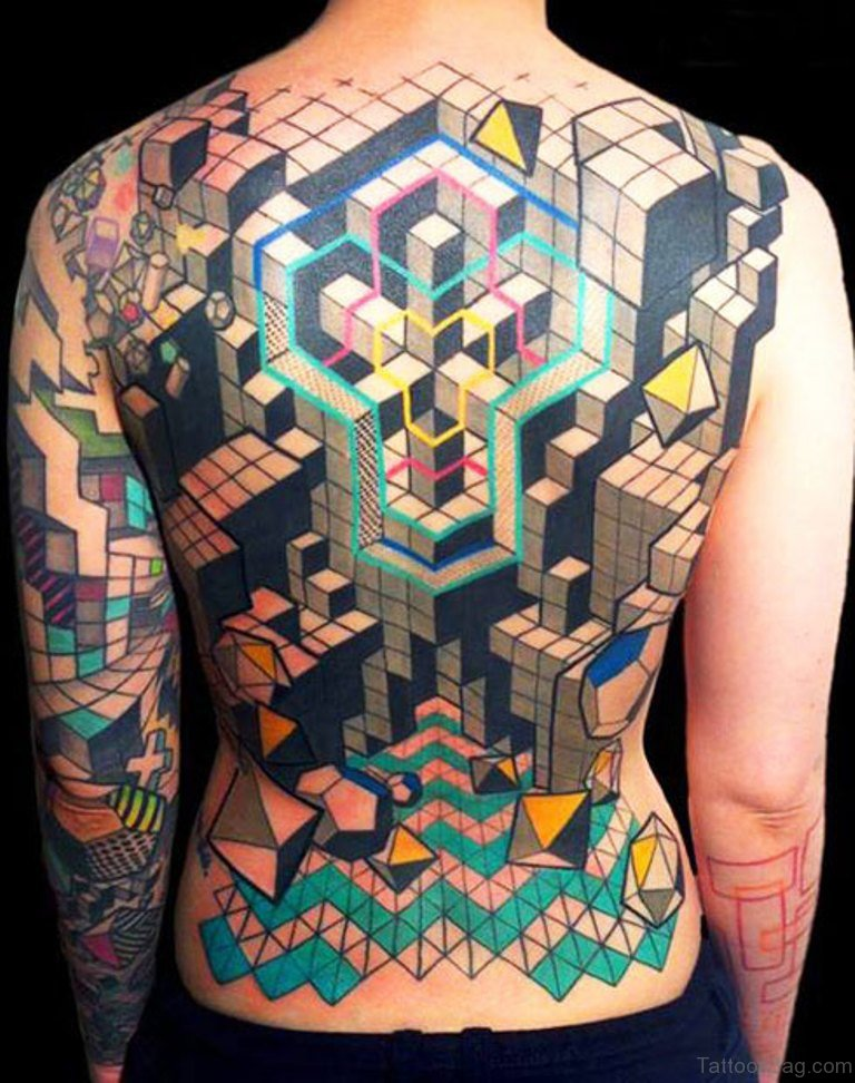 75 Excellent Geometric Tattoos On Back