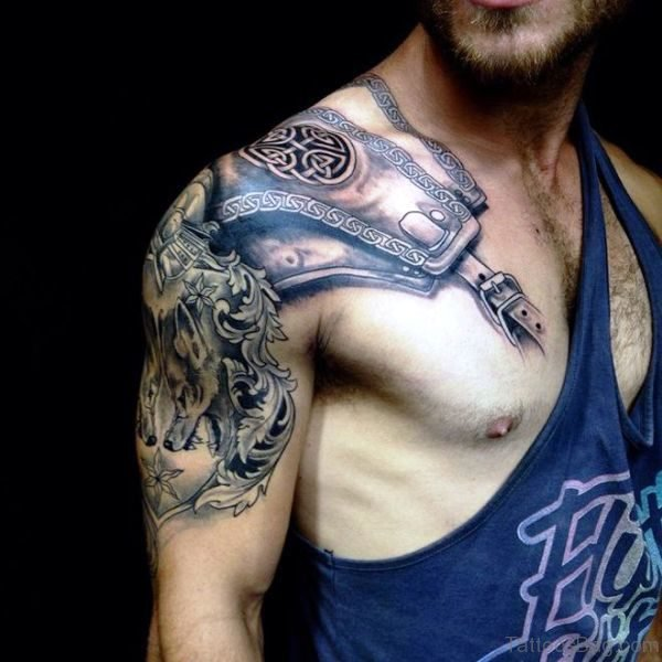 60 Fantastic Armour Tattoo On Shoulder