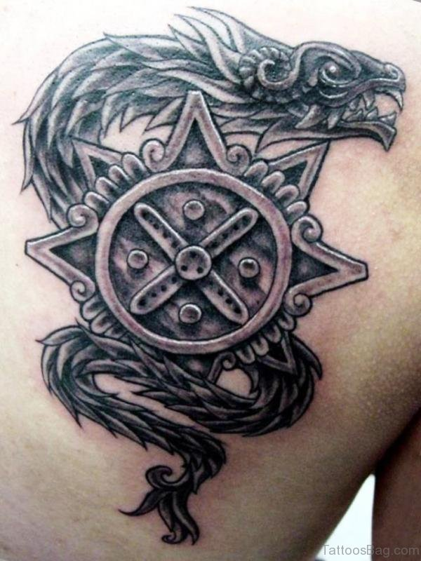Aztec Serpent Tattoo : aztec, serpent, tattoo, Aztec, Serpent, Tattoo, Gallery, Collection
