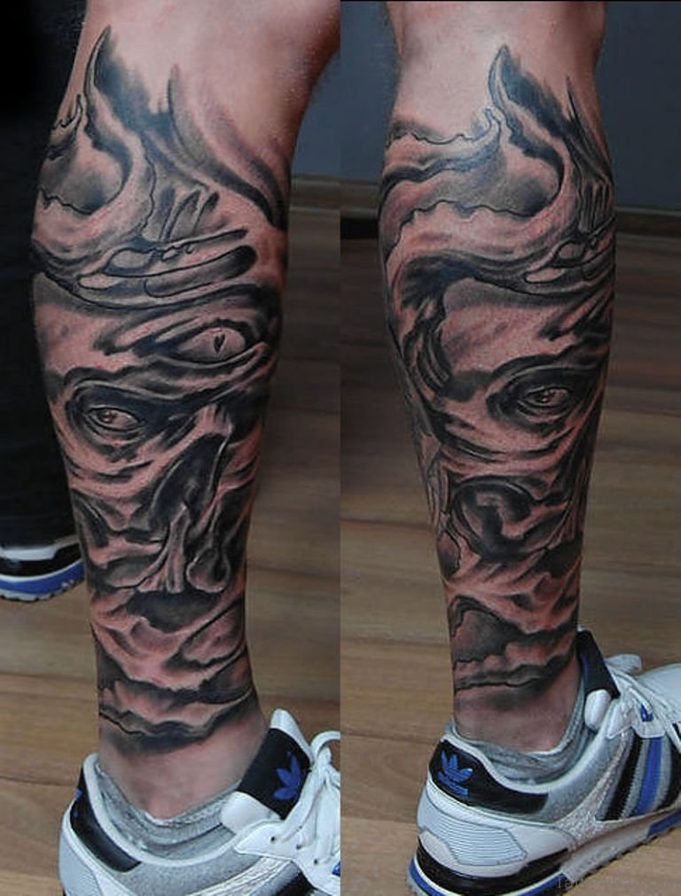 Biomechanical Leg Tattoo : biomechanical, tattoo, Trendy, Biomechanical, Tattoos