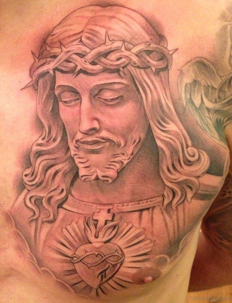 Christian Chest Tattoo : christian, chest, tattoo, Blowing, Jesus, Tattoos, Chest