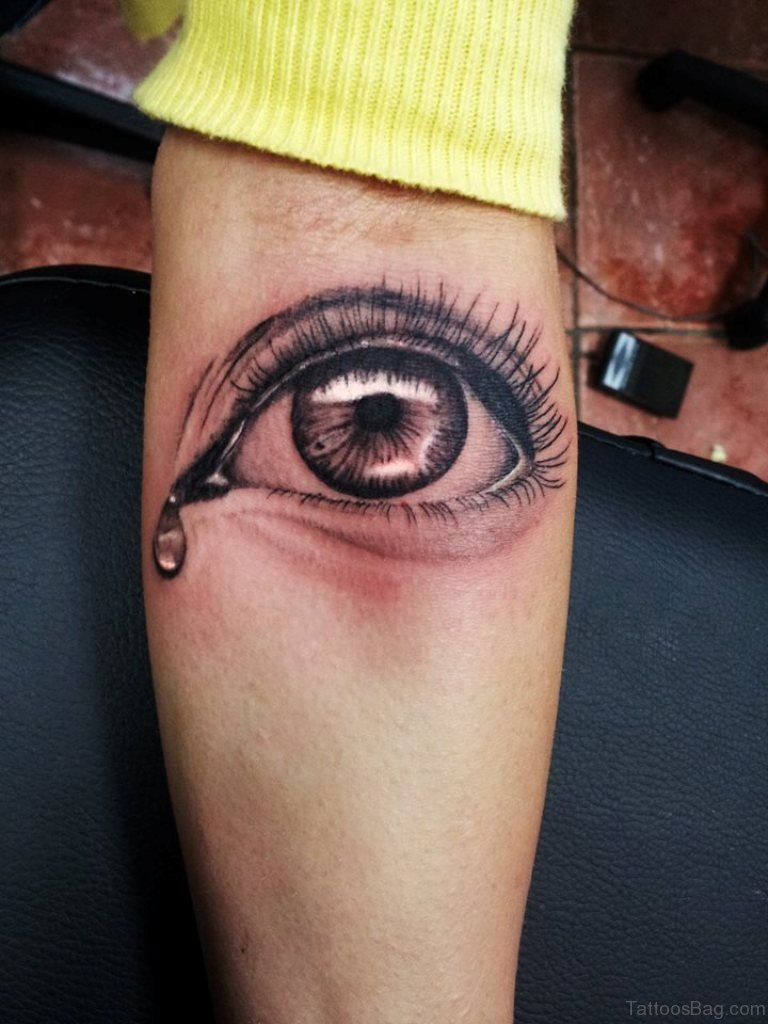 Crying Eye Tattoo : crying, tattoo, Blowing, Tattoos