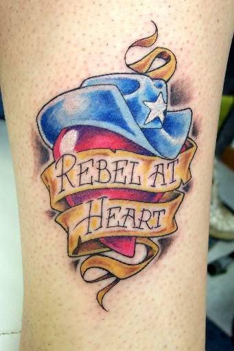 Rebel Word Tattoo : rebel, tattoo, Rebel, Heart, Tattoo, Designs,, Pictures