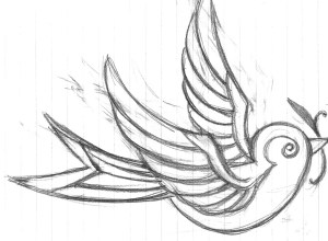 swallow tattoo tattoos designs meaning drawings easy simple cool drawing bird outline sketch birds line rose idea roses shapes traditional