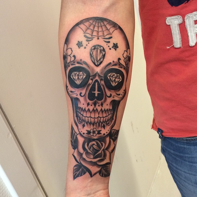 Candy Skull Tattoos Designs, Ideas And Meaning Tattoos
