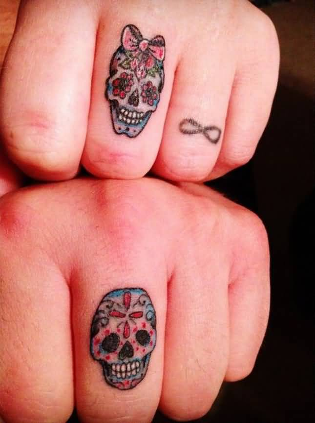 Skull Finger Tattoos : skull, finger, tattoos, Skull, Finger, Tattoo, Gallery, Collection