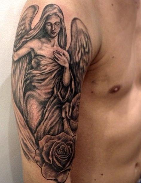 Angel Half Sleeve Tattoo : angel, sleeve, tattoo, Angel, Sleeve, Tattoo, Gallery, Collection