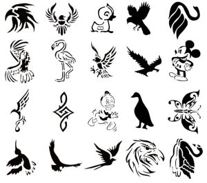tattoo easy designs stencils tattoos simple drawing airbrush cool henna temporary printable stencil bird reusable tatouage templates tatoo adhesive booklet