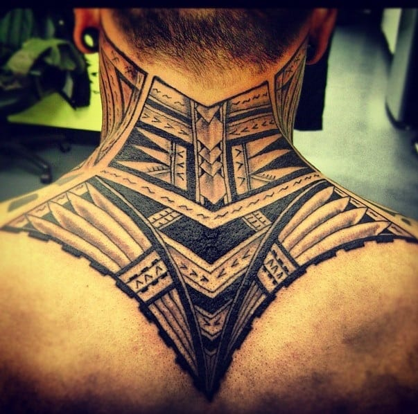 tattoos for men on neck