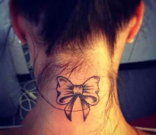 Best bow tattoos designs pictures images ideas