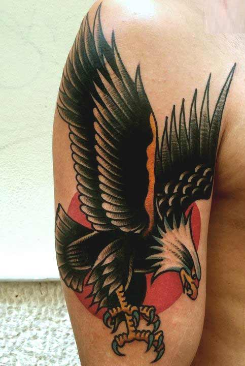Eagle Tattoo On Hand Boy