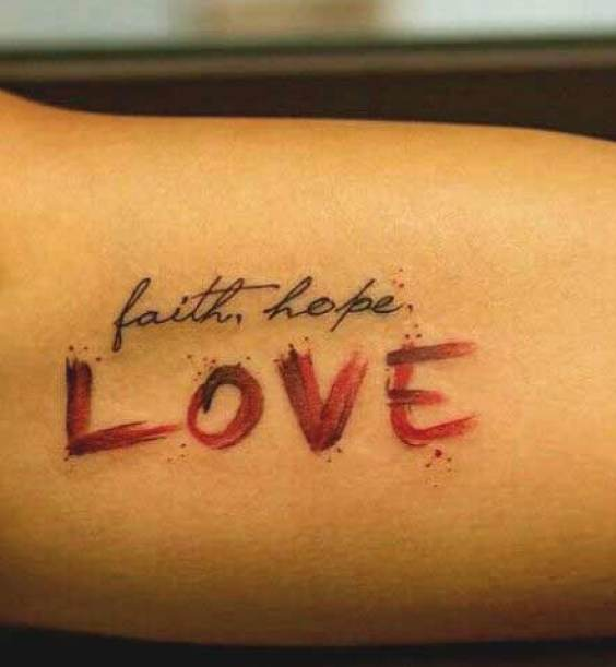 Faith hope and love are main components of life