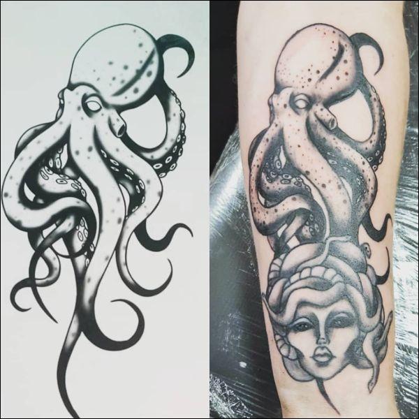 octopus black tattoos