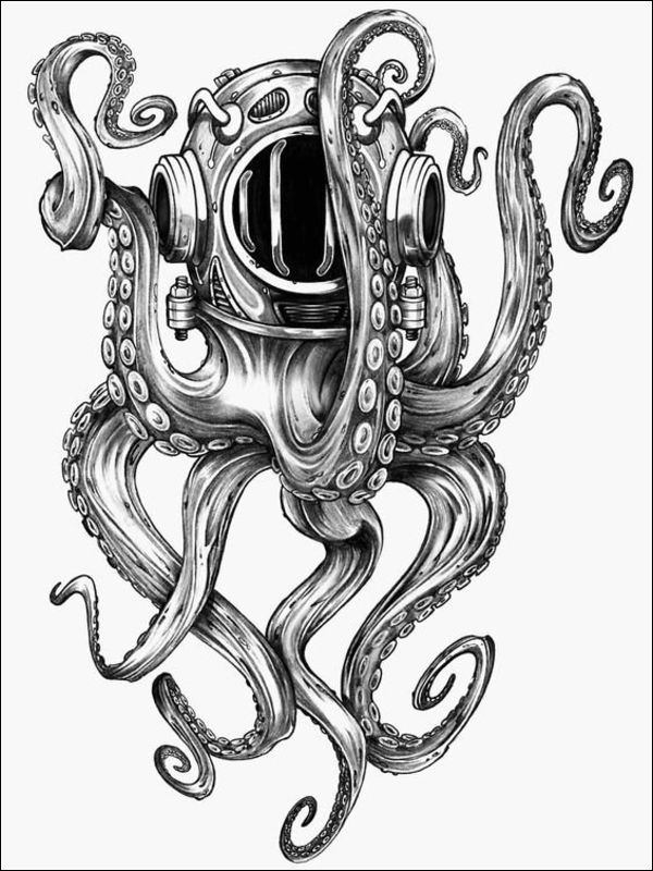 octopus drawings tattoos