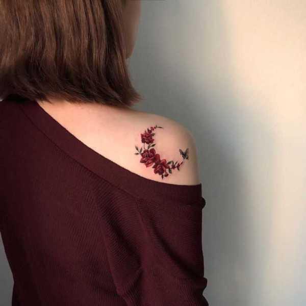 back rose tattoos
