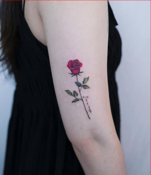 girls rose tattoos
