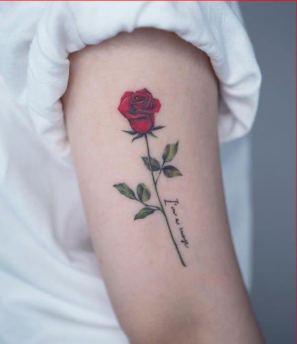 beautiful rose tattoos