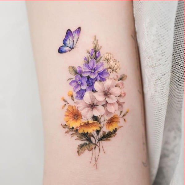 flowers tattoos ideas for girls