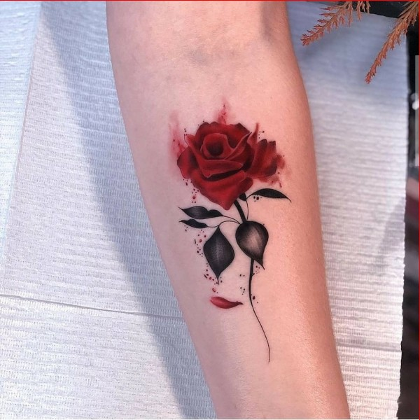beautiful rose tattoos for girls