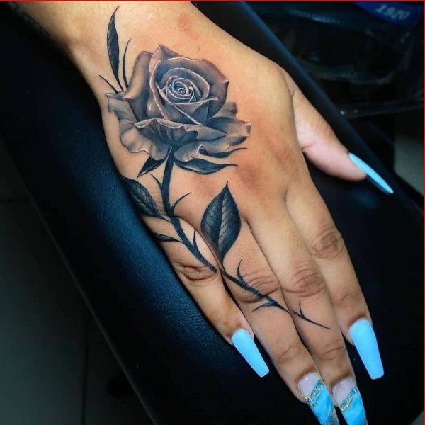 rose tattoos for hand