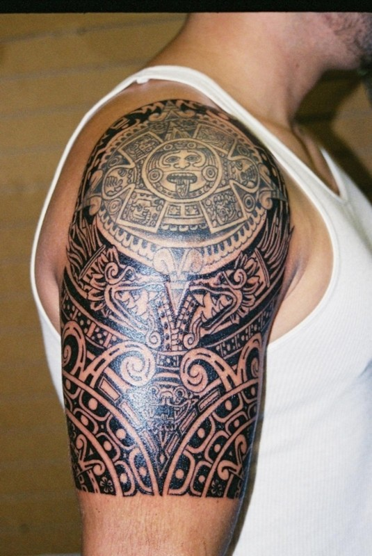 Aztec Sleeve Tattoos : aztec, sleeve, tattoos, Aztec, Sleeve, Tattoos
