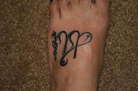 Elegant Virgo Tattoo Zodiac Nice Design Ankle Tattoos Tatuajes