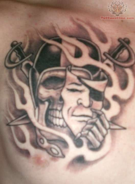 Raiders Skull Tattoo : raiders, skull, tattoo, Oakland, Raiders, Tattoo, Images, Designs