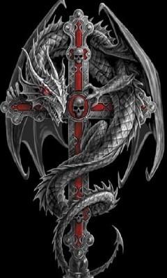 Dragon And Cross Tattoo : dragon, cross, tattoo, Dragon, Cross, Tattoo, Design