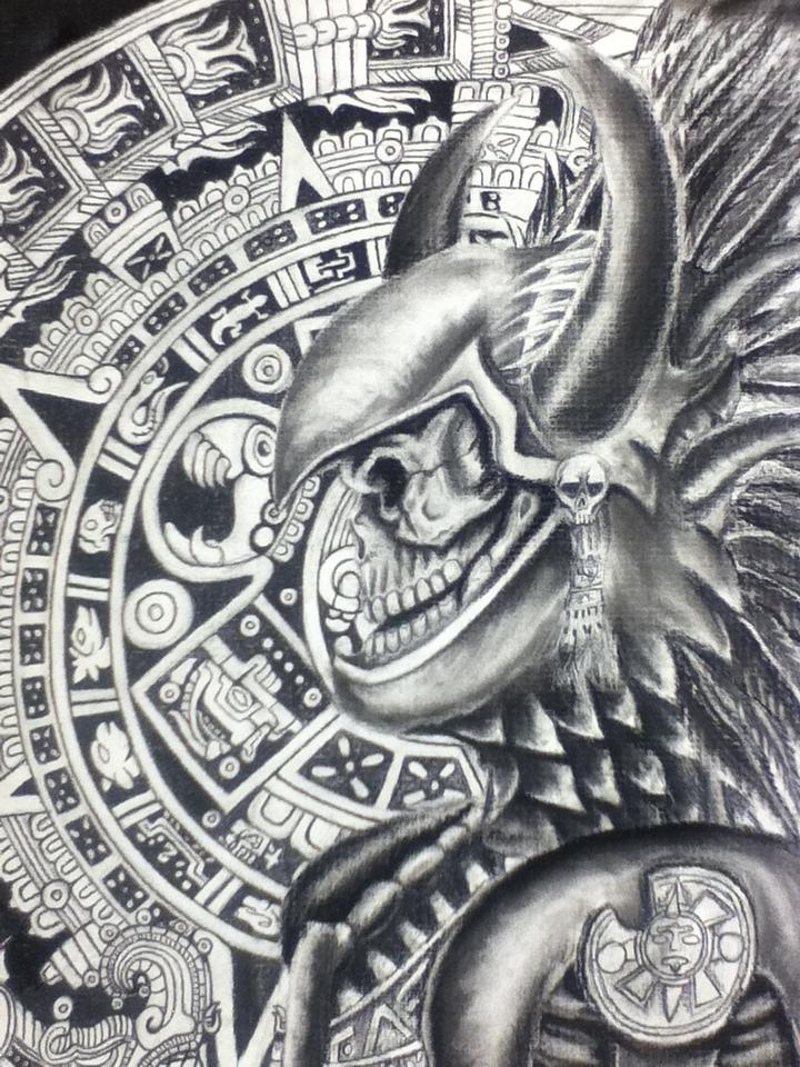 Aztec Warrior Tattoo Designs : aztec, warrior, tattoo, designs, Aztec, Warrior, Tattoo, Design