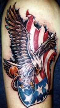 Bald Eagle And American Flag Tattoo : eagle, american, tattoo, Eagle, American, Tattoo