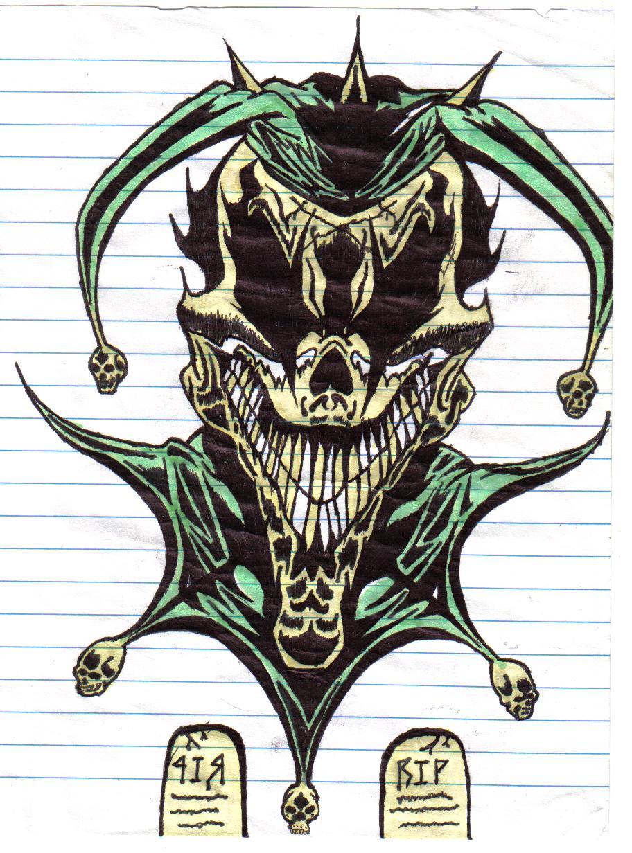 Jester Tattoo Design : jester, tattoo, design, Green, Wicked, Jester, Tattoo, Design