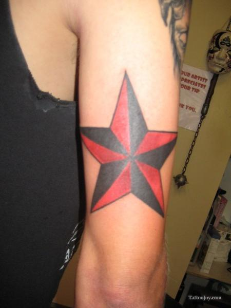 Red Star Tattoo Meaning : tattoo, meaning, Nautical, Tattoo, Bicep