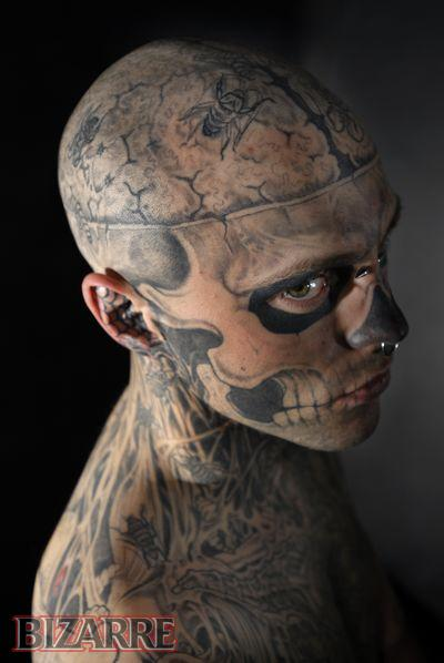 Face Skull Tattoo : skull, tattoo, Skull, Tattoo