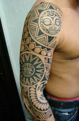 Aztec Sleeve Tattoos : aztec, sleeve, tattoos, Aztec, Tattoo, Right, Sleeve