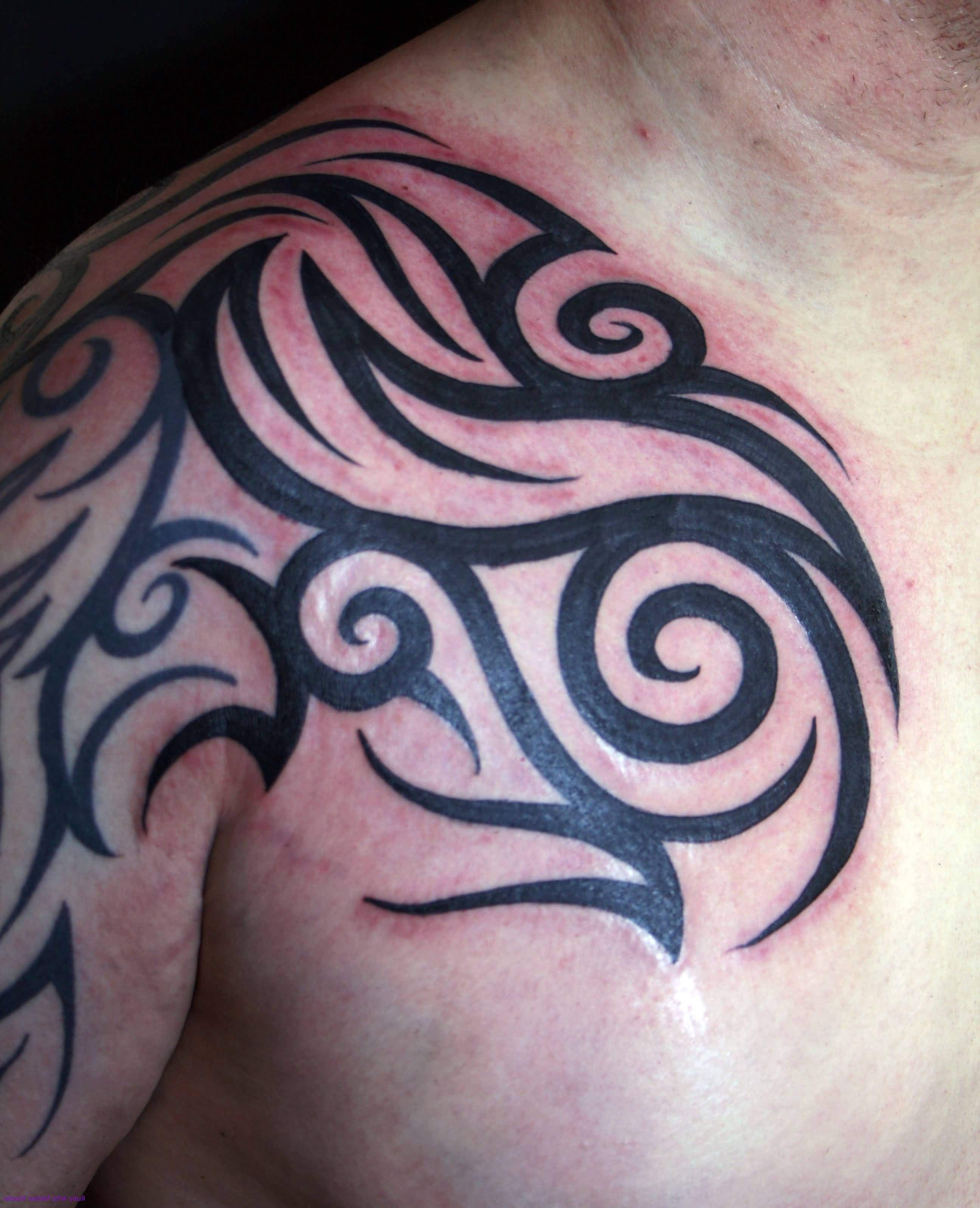 Tribal Tatoo On Shoulder : tribal, tatoo, shoulder, Front, Shoulder, Tribal, Tattoo