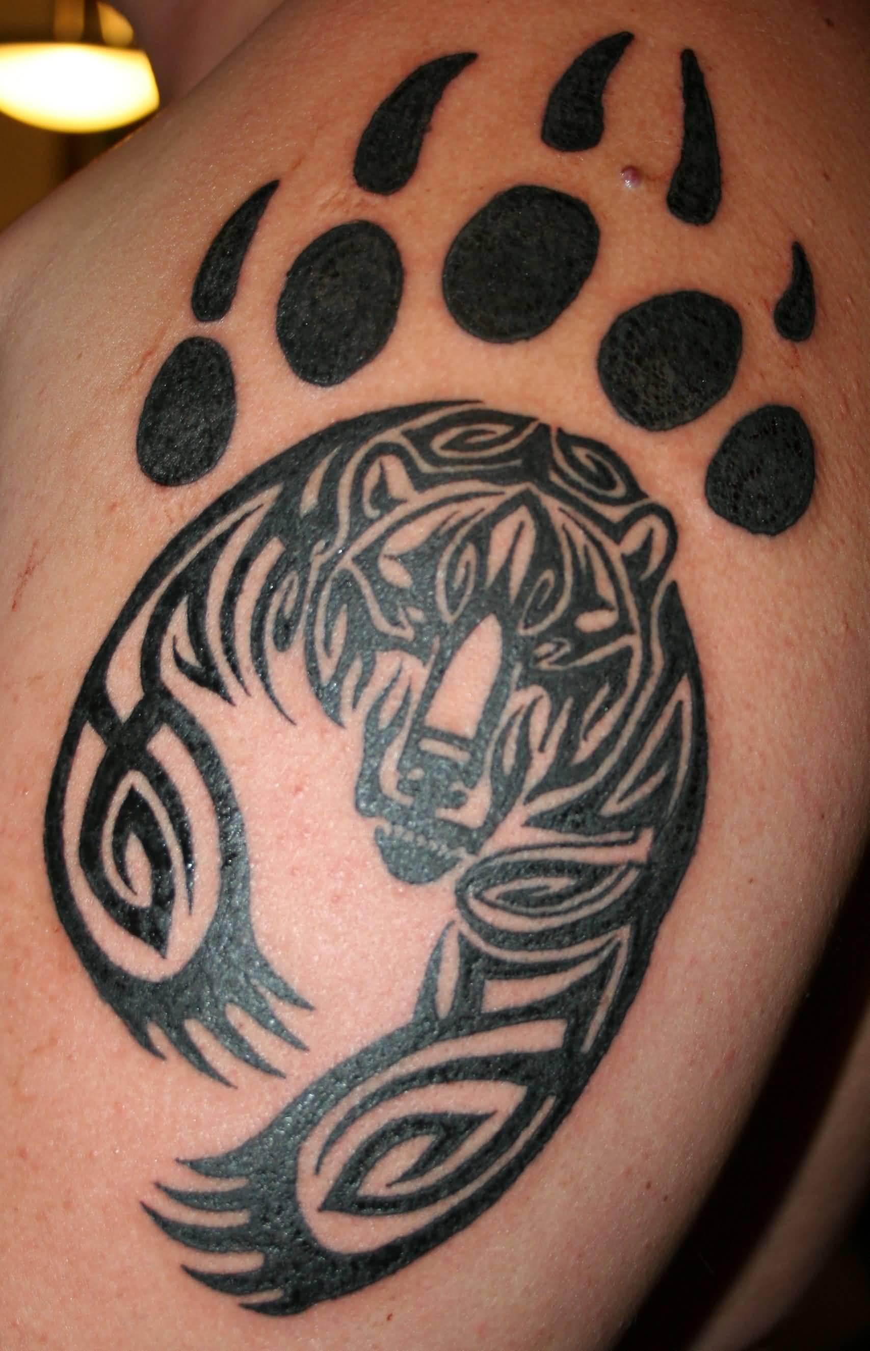 Bear Claw Tattoo : tattoo, Black, Tribal, Tattoo