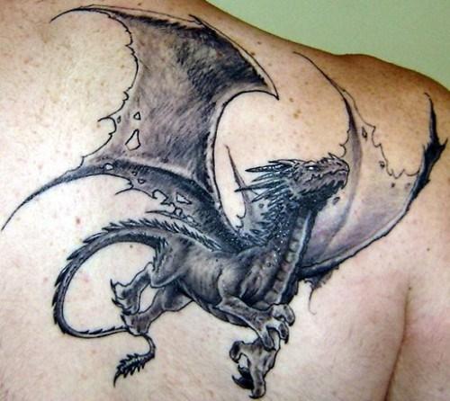 dragon tattoos with wild