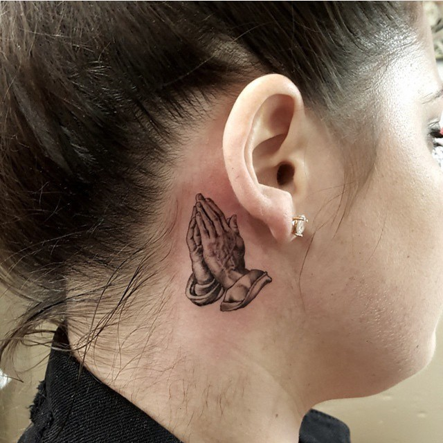 Small Tattoo Ideas For Women Behind Ear