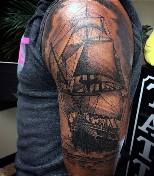 Old Ship Tattoos