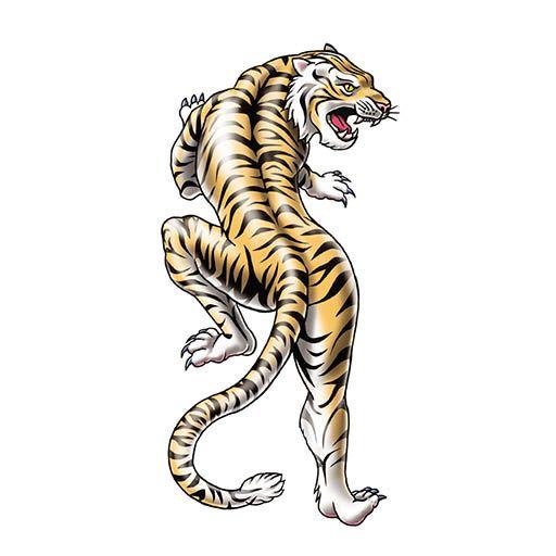 Tigre Chino Tatuajes Temporales Para Niños Calcomanías Tattootatu