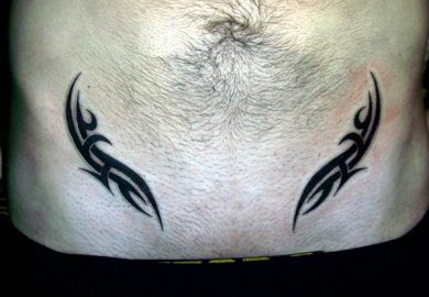 Stomach Tattoo Designs For Men