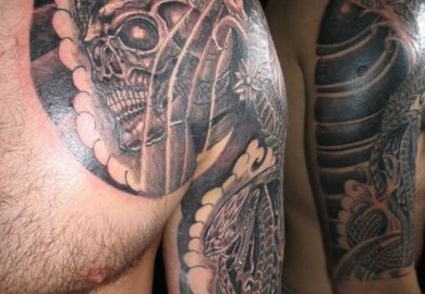 E2302f/hunting Tattoo Designs For Men